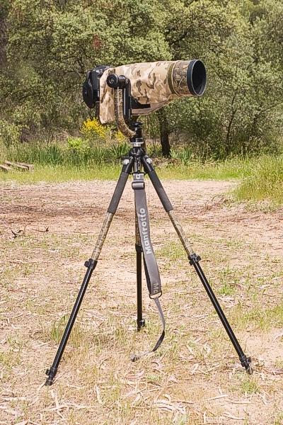маскировка штатива и камеры